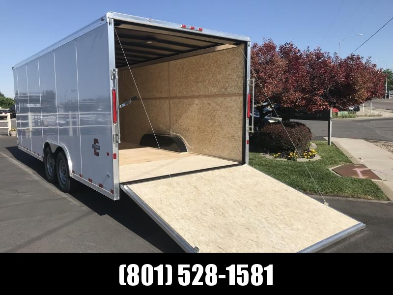 Charmac 100x20 White Commercial Duty Cargo with Ramp
