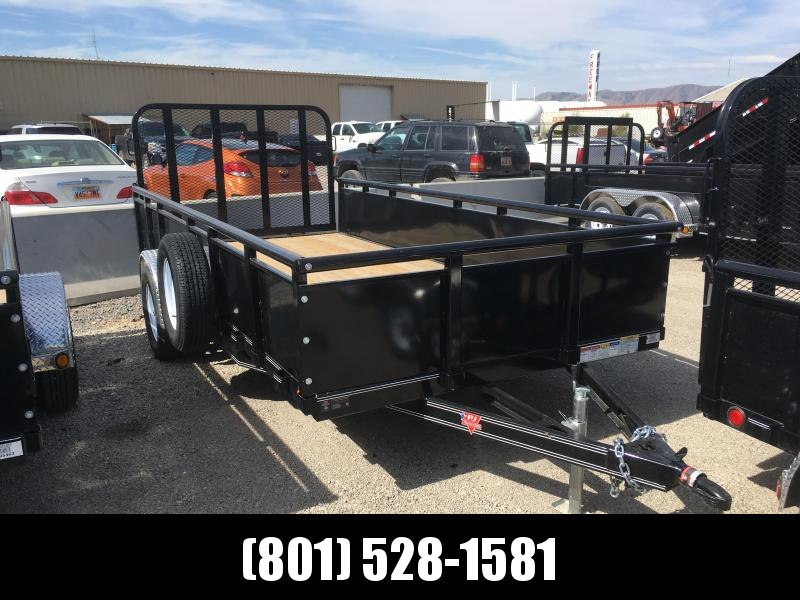 PJ Trailers 14ft. - 77 in. Single Axle Channel Utility (U7) Trailer