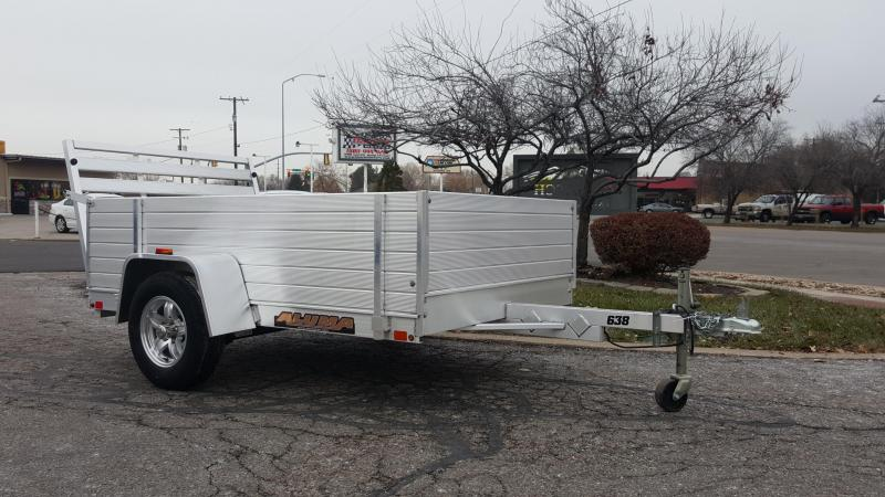 2018 Aluma 638 w 2ft Solid Sides Utility Trailer