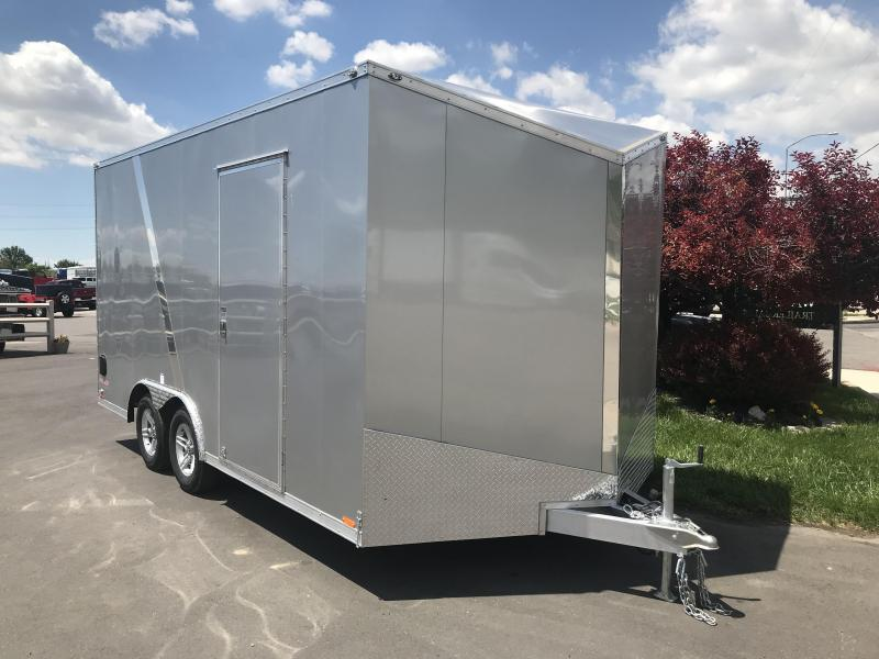 2018 Cargo Mate 8x16 Aluminum Equipment Trailer