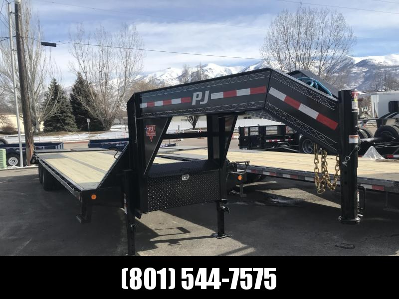 PJ 30ft Gooseneck Low-Pro Flatdeck with Duals (LD)