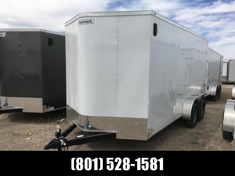 7x16 White Haulmark Passport Deluxe Cargo Trailer