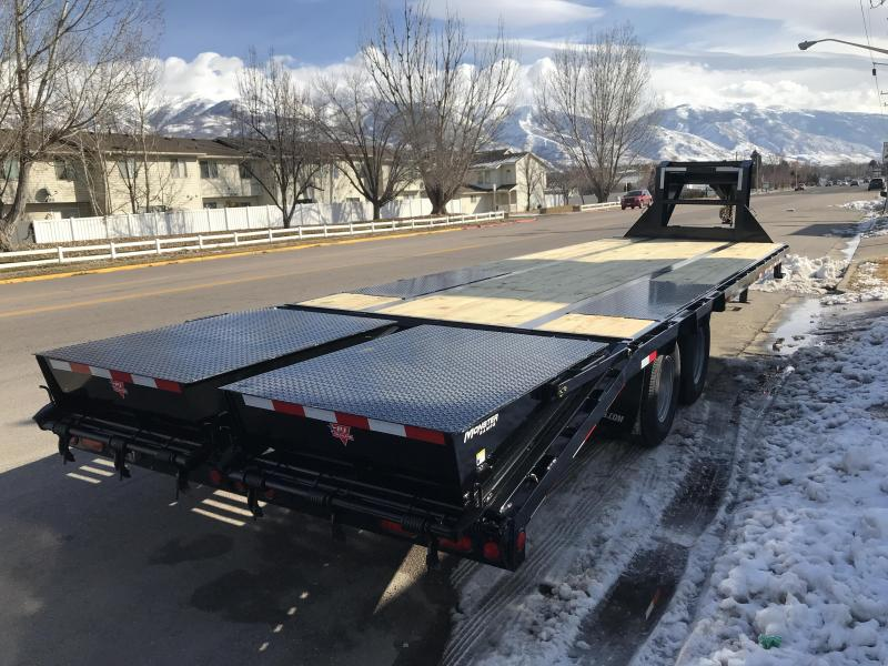 2019 PJ Trailers 30ft 14 in. I-Beam Low-Pro with Duals (L3) Flatbed Trailer