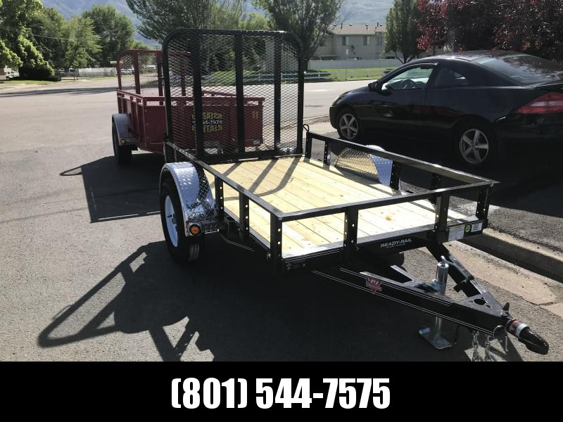 PJ 5x8 Single Axle Channel Utility (U6) Utility Trailer