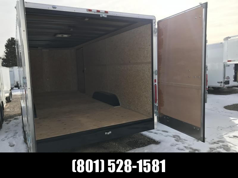 Charmac 100x22 White Commercial Duty Cargo with Barn Doors