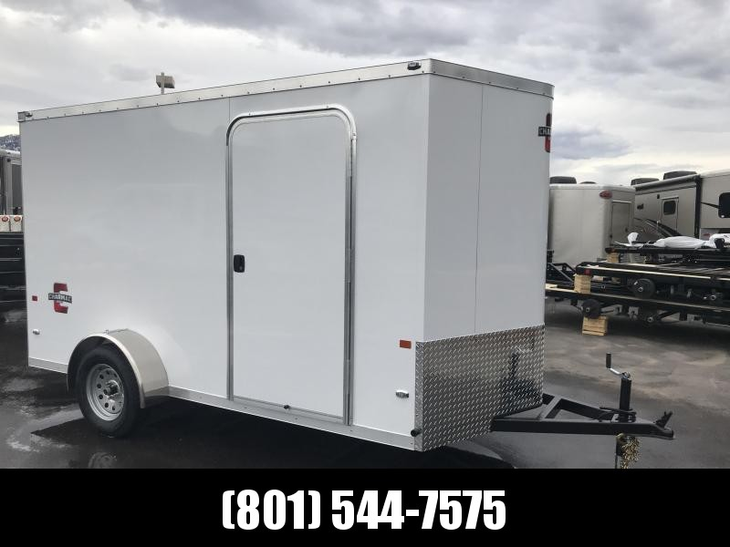 Charmac 6x12 White Stealth Cargo with Ramp