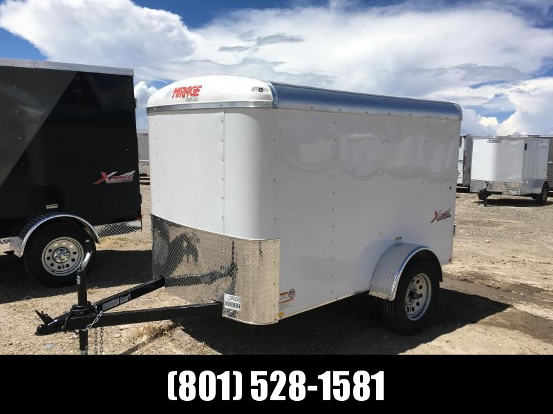 5x8 White Mirage Xcel Cargo Trailer