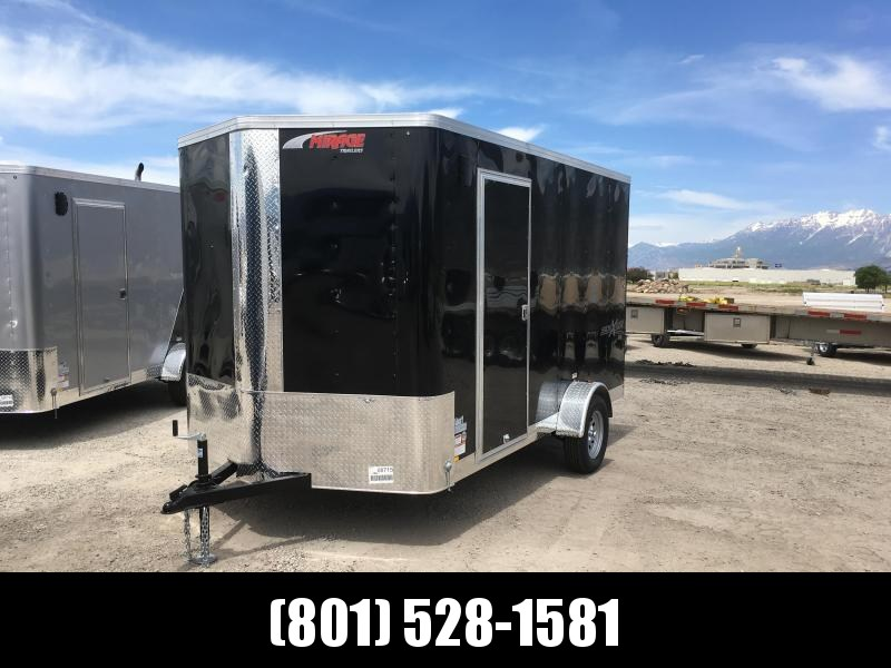 7x12 Black Mirage Xpres Cargo Trailer with Side By Side Package