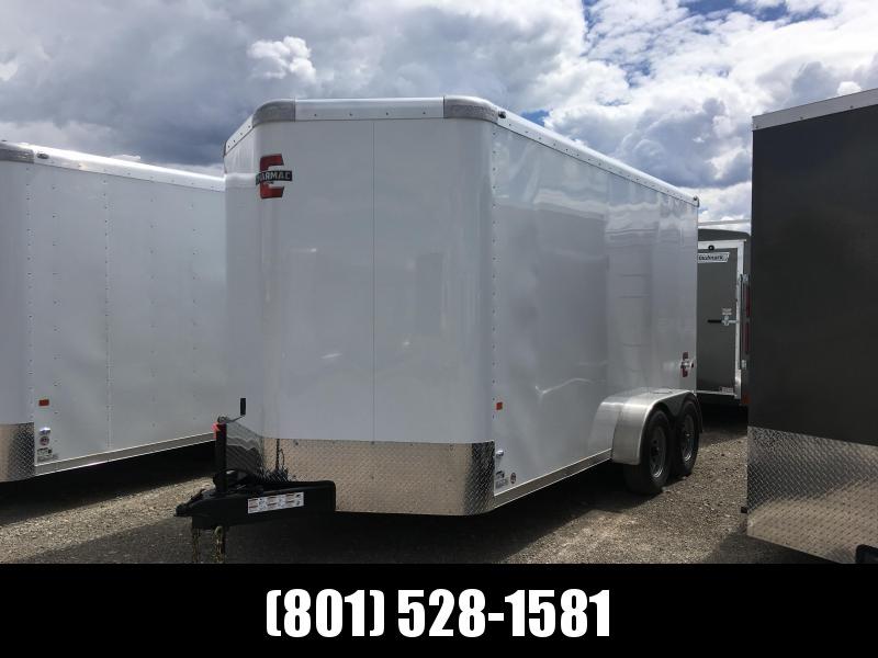 Charmac 7x14 White Standard Duty Cargo with Ramp