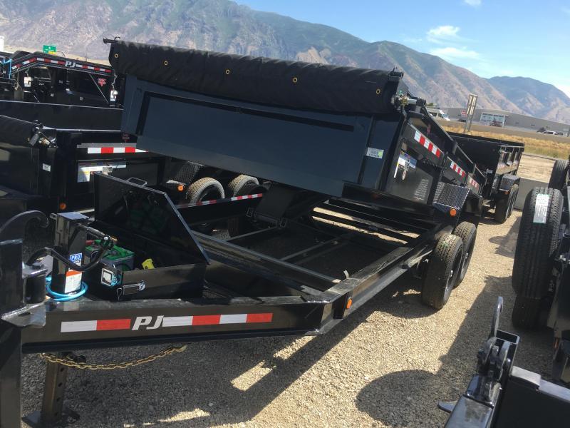 PJ Trailers 16ft. - 83 in. Low Pro Dump (DL) Trailer