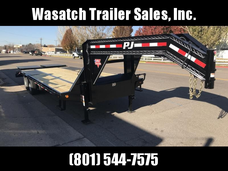 2019 PJ Trailers 28ft Gooseneck Low-Pro Flatdeck with Duals (LD) Flatbed Trailer