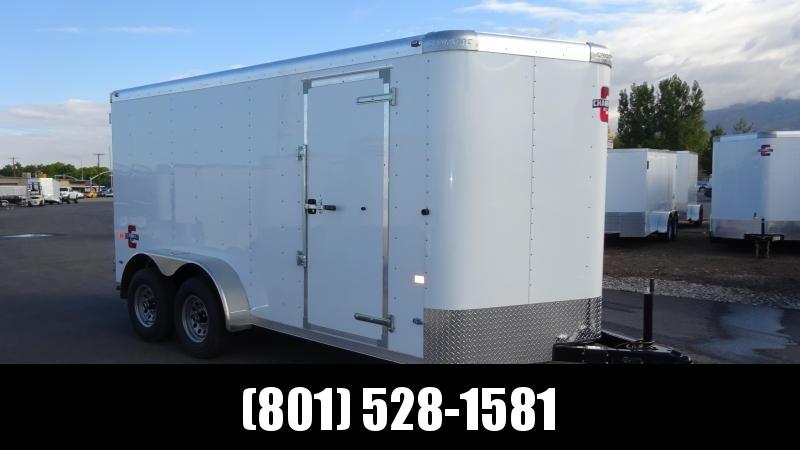 Charmac 7x14 White Standard Duty Cargo with Barn Doors
