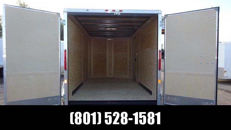 Charmac 7x14 White Standard Duty Cargo with Barn Doors
