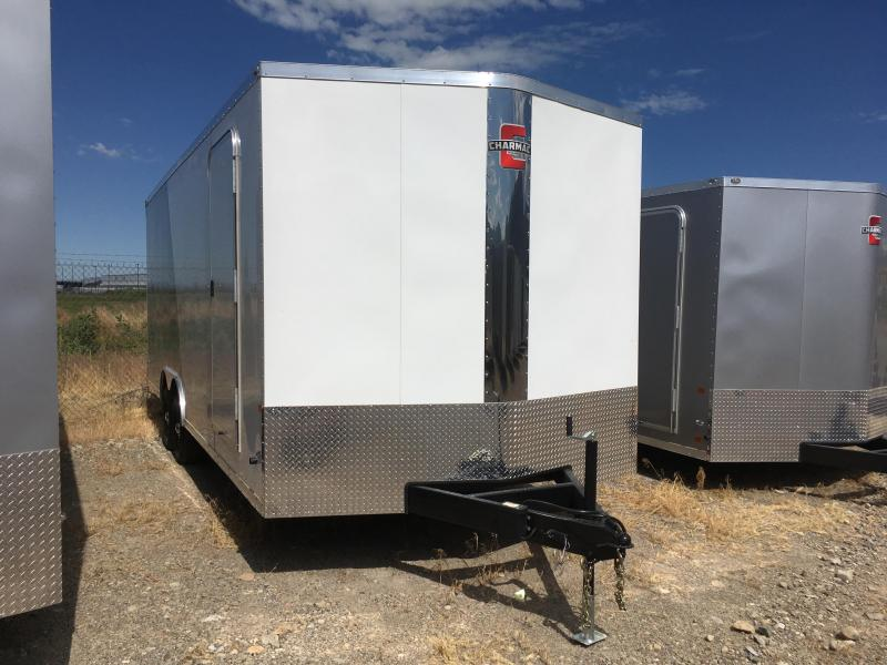 100x22 White & Silver Charmac Stealth Cargo Trailer with Diamond Package
