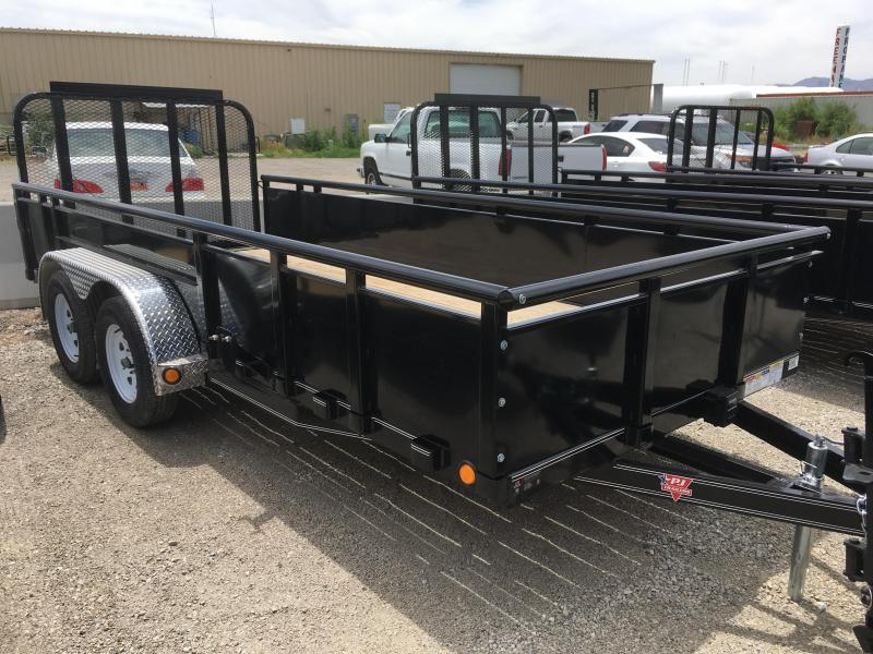 "77x16 PJ High Side (UK) Utility Trailer with 22"" Solid Sides"