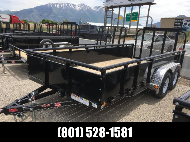 """77x16 PJ High Side (UK) Utility Trailer with 22"""" Solid Sides"""