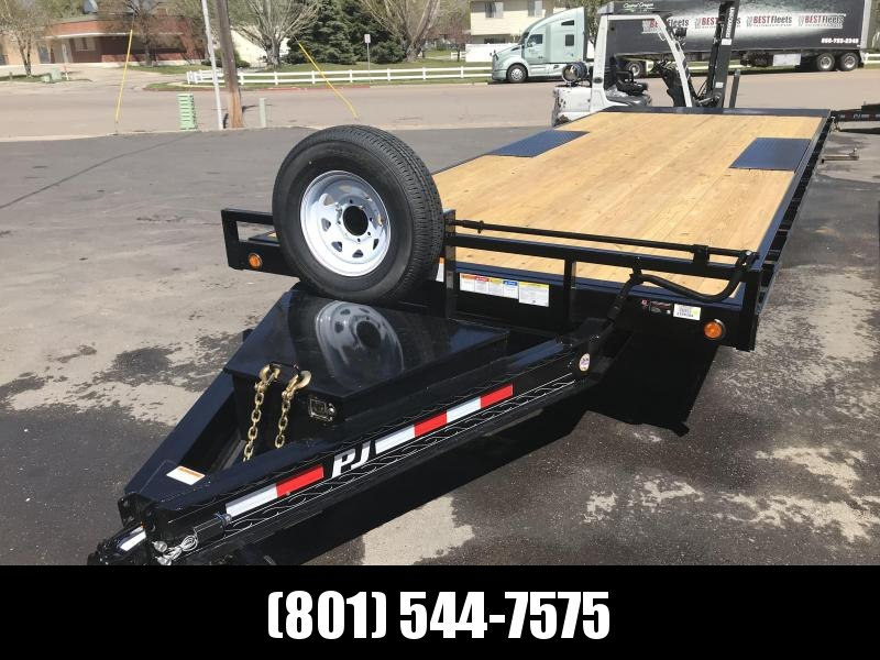 2019 PJ Trailers 24ft - Deckover Tilt (T8) Equipment Trailer