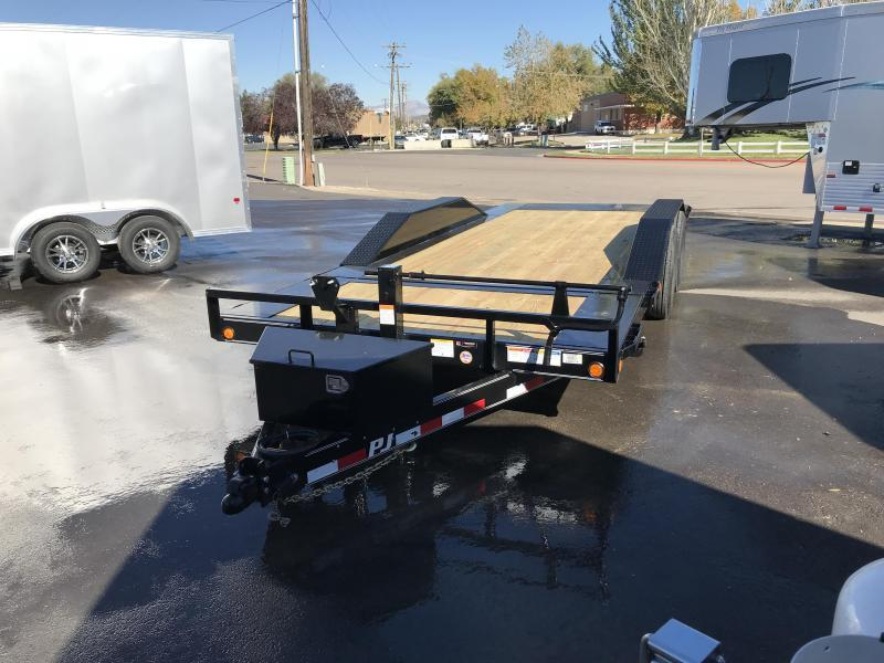 2019 PJ Trailers 20ft - 6 Channel Super-Wide Tilt (TS) Flatbed Trailer