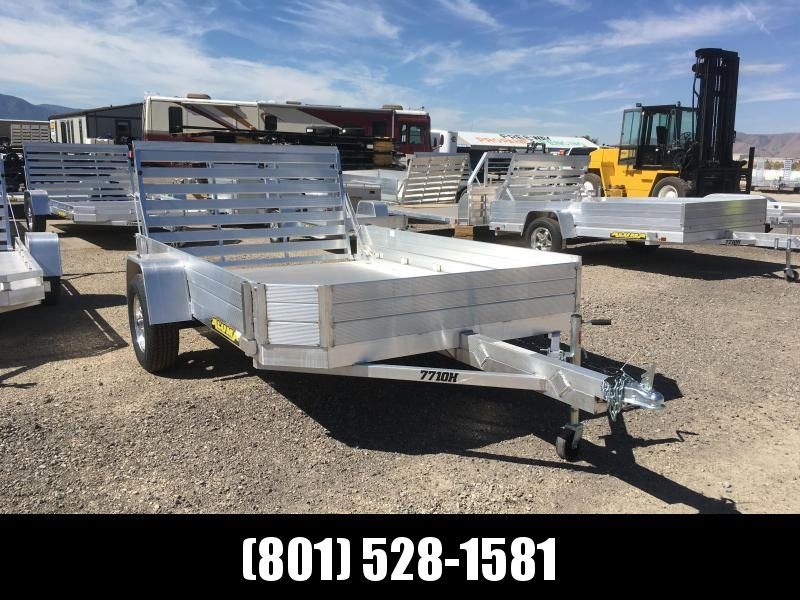 Aluma 7710H Utility Trailer with 12in. Solid Sides
