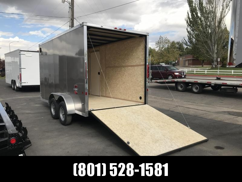 Charmac 7x14 Pewter Stealth Cargo with Ramp