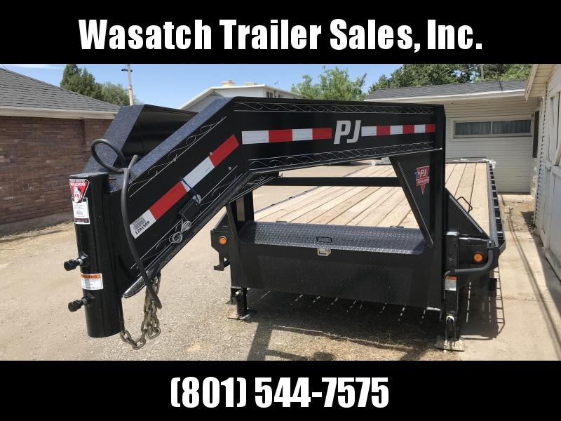 2019 PJ Trailers 30ft - Gooseneck Classic Flatdeck with Singles (FS) Flatbed Trailer