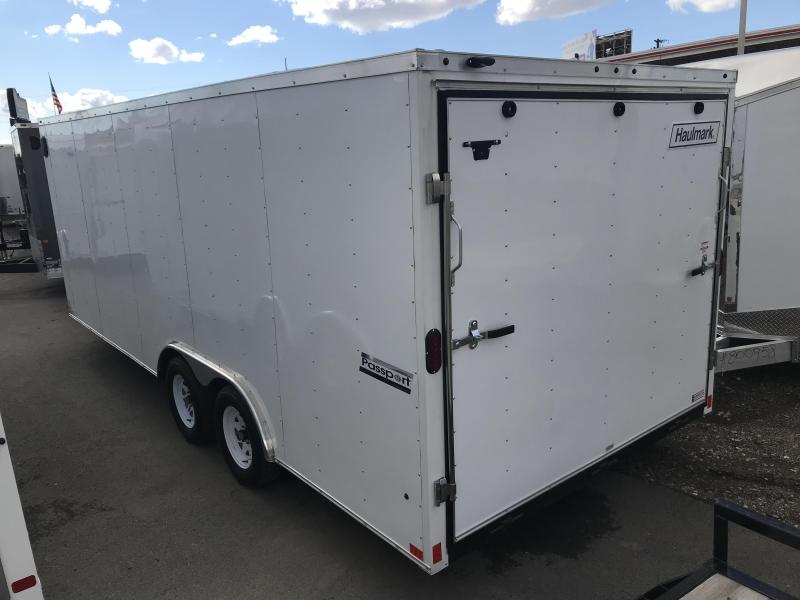 2019 Haulmark 8.5X20 White Passport Enclosed Cargo Trailer