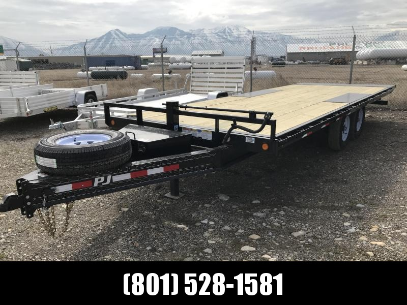 2019 PJ Trailers 22FT Deckover Tilt (T8) Equipment Trailer