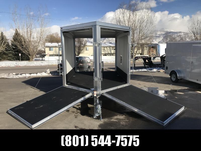 Haulmark 12ft Silver Aluminum Double Door Snowmobile Trailer