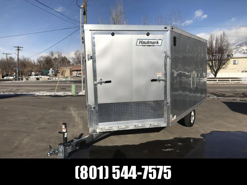 Haulmark 12ft Silver Aluminum Double Door Snowmobile Trailer
