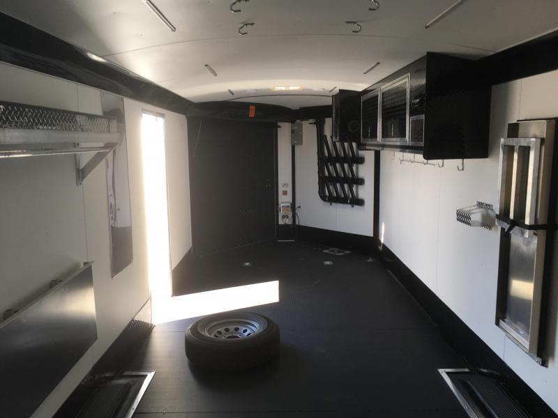 2019 Silver & Black Mirage Trailers 8.5x28 Xtreme Sport Snowmobile Trailer