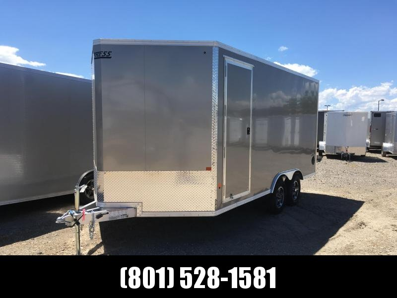 8x16 Pewter High Country Xpress Cargo Trailer with Finished Interior
