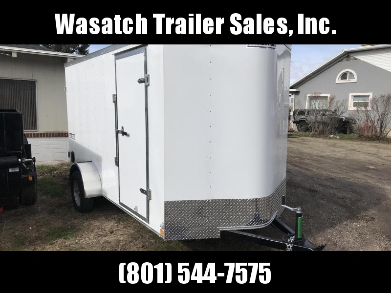 Haulmark White 6x12 Passport with Barn Doors Enclosed Cargo Trailer