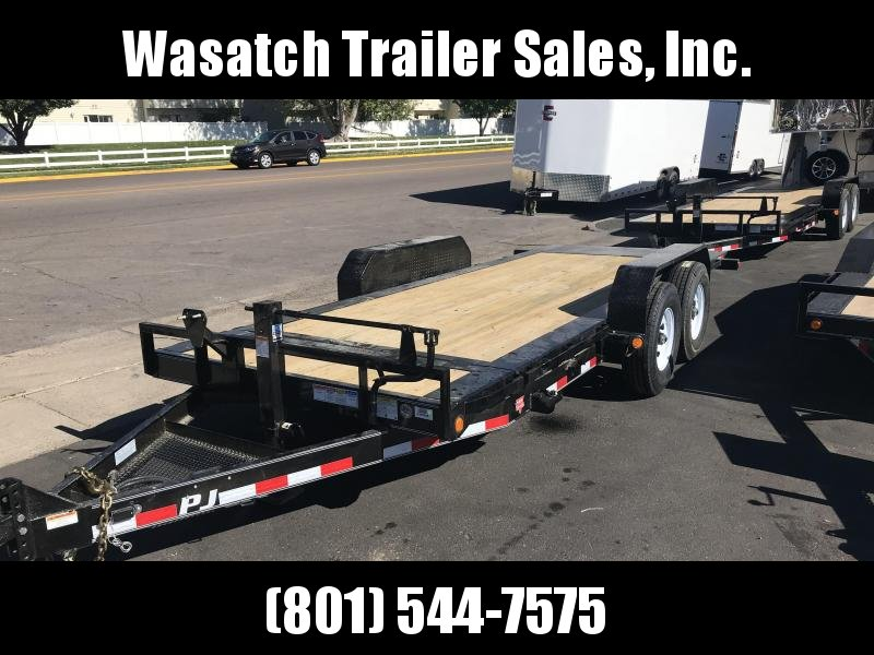 2019 PJ Trailers 18ft - HD Equipment Tilt 6 in. Channel (TJ) Equipment Trailer