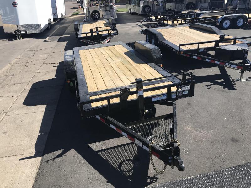 2019 PJ Trailers 18ft - HD Equipment Tilt 6 in. Channel (TJ) Equipment Trailer