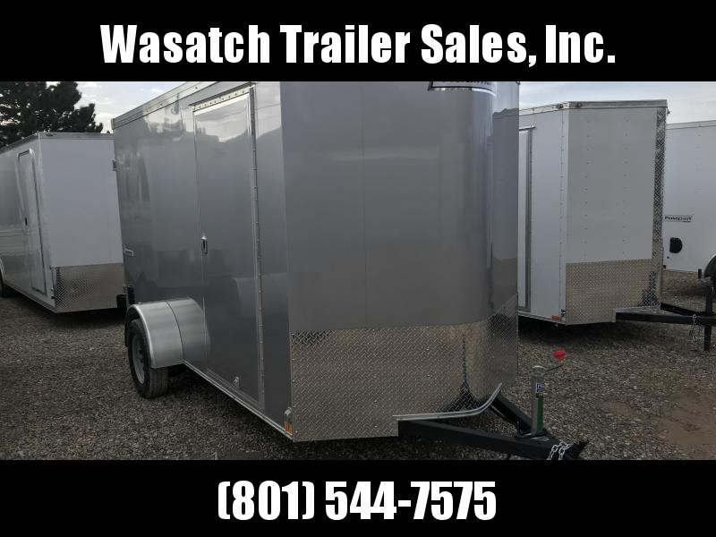 Haulmark Silver 6x12 Transport w Barn Doors Enclosed Cargo Trailer