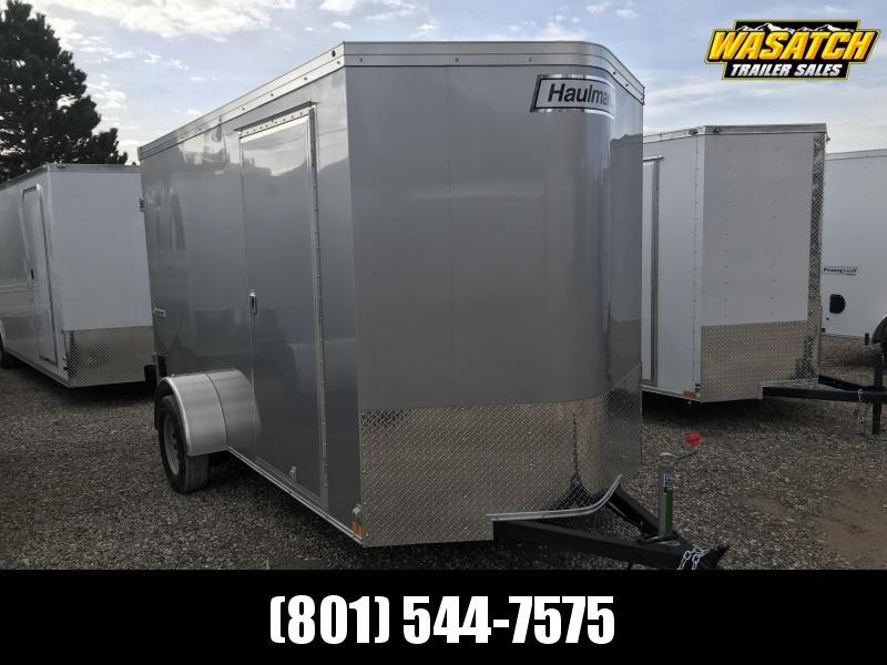 Haulmark Silver 6x12 Transport w Barn Doors Enclosed Cargo Trailer