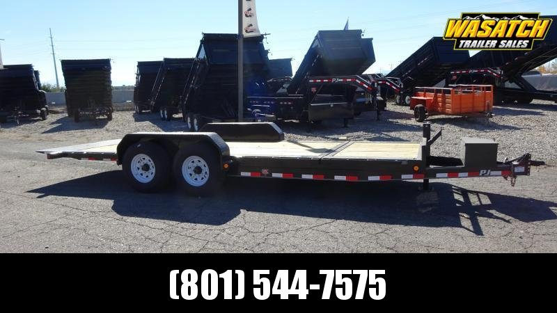 2018 PJ Trailers 20 Heavy Duty Tilt Equipment Trailer