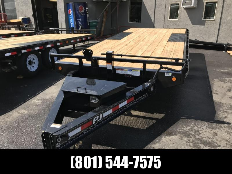 PJ 18ft - 8 in. I-Beam Deckover (F8) Flatbed Trailer