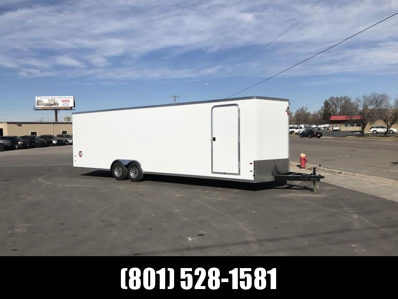 Charmac 100x26 White Stealth Car Hauler with Ramp