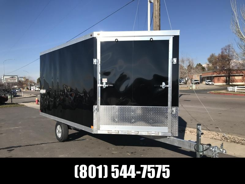 2019 Haulmark 8.5x12 Double Front Door Aluminum Snowmobile Trailer in UT