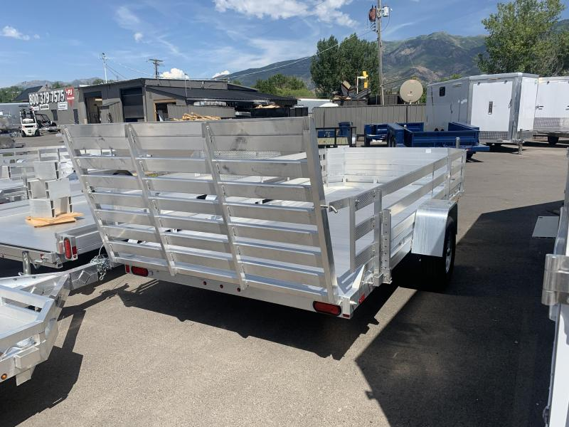 Aluma 7814ST Utility Trailer with 24in  Side Rails | Wasatch