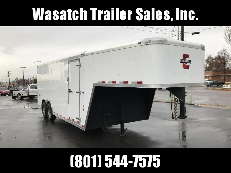 2019 Charmac Trailers 24ft Gooseneck Enclosed Cargo Trailer