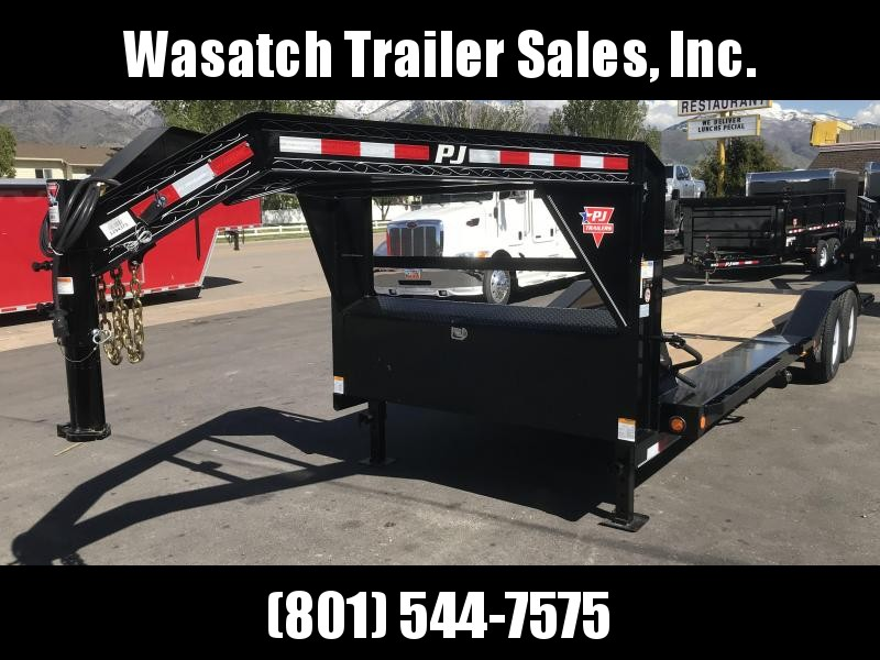 2019 PJ Trailers 24ft - 6 Channel Super-Wide Tilt (TS) Flatbed Trailer