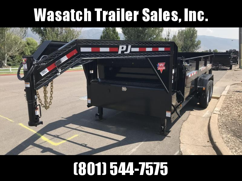 2019 PJ 16ft Gooseneck Low Pro High Side DMR Dump Trailer