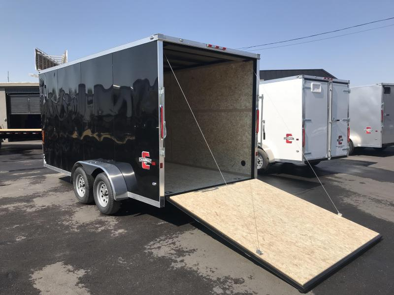 Charmac 7x16 Black Stealth Cargo with Ramp