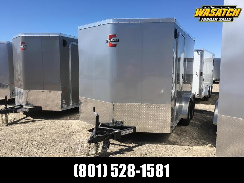 Charmac 7.5x12 Stealth Enclosed Steel Cargo  w/ V-nose