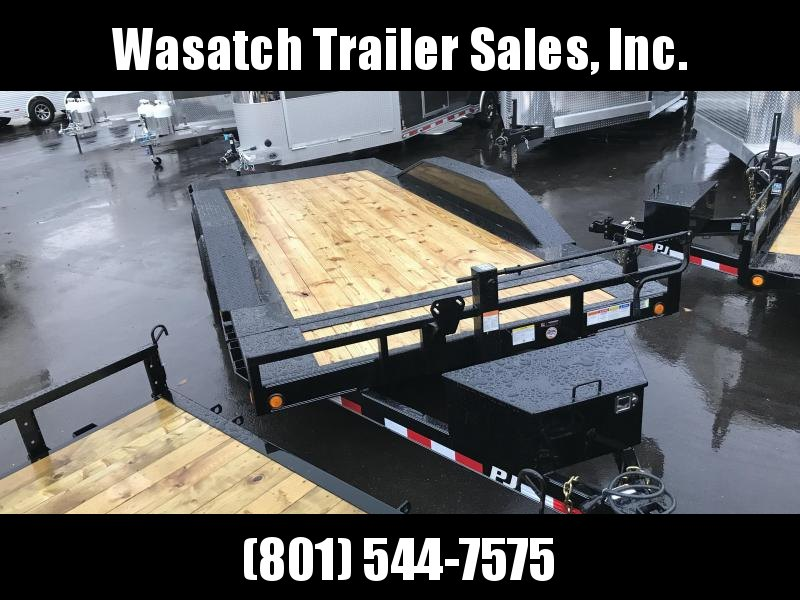 2019 PJ Trailers 18ft - 6 Channel Super-Wide Tilt (TS) Equipment Trailer