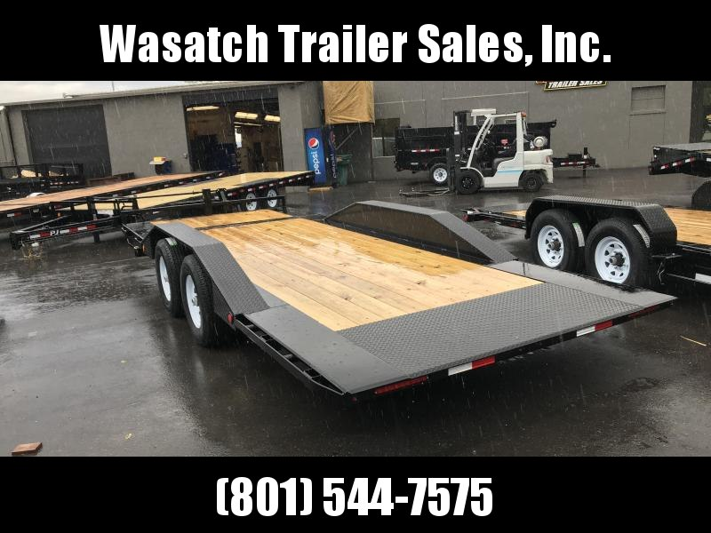 2019 PJ Trailers 22ft - 6 Channel Super-Wide Tilt (TS) Flatbed Trailer