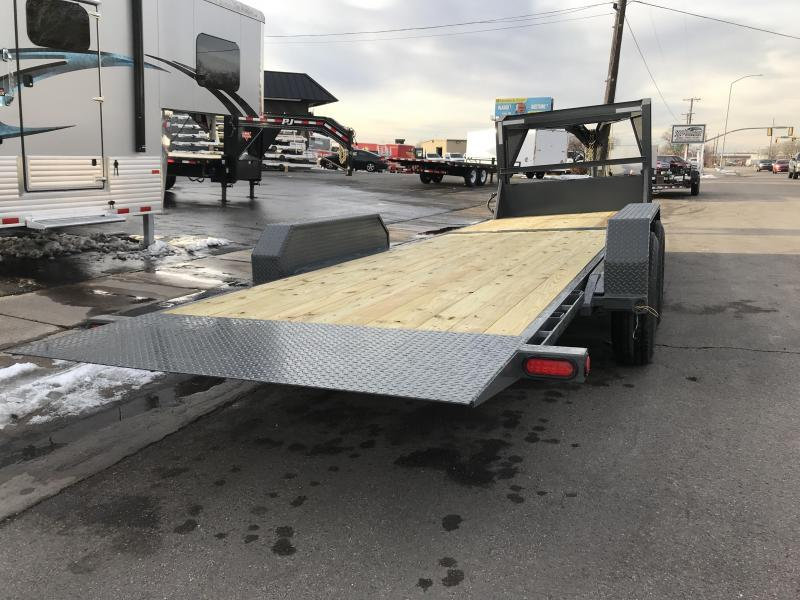 2019 PJ Trailers 24ft Grey - 6 in. Channel Equipment Tilt (T6) Equipment Trailer