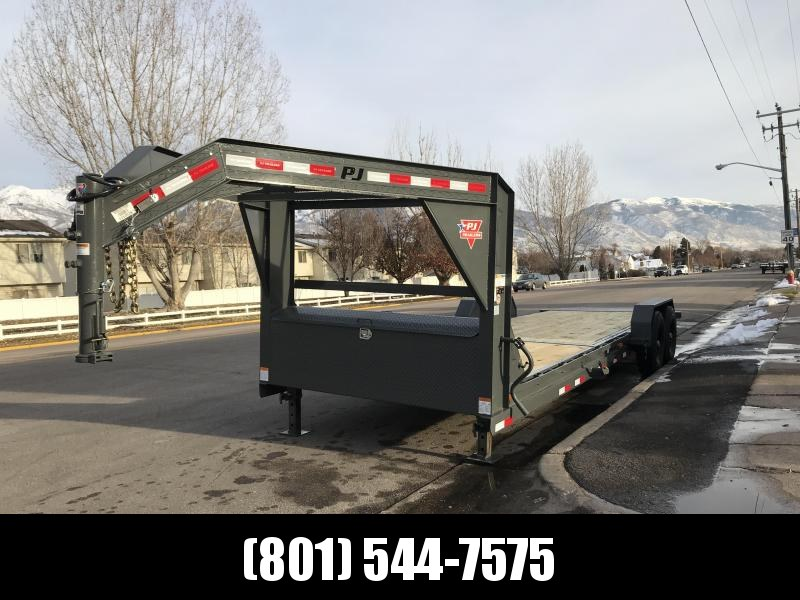 2019 PJ Trailers 24ft Grey - 6 in. Channel Equipment Tilt (T6) Equipment Trailer in UT